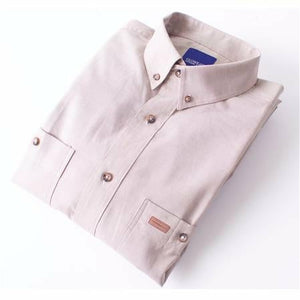Gloweave Classic Long Sleeve Chambray Shirt in Sand