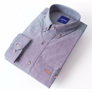 Gloweave Short Sleeve Black Classic Chambray Shirt