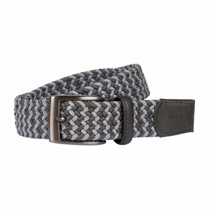 Brax Woven Belt in Grey - Ron Bennett Big Men's Clothing