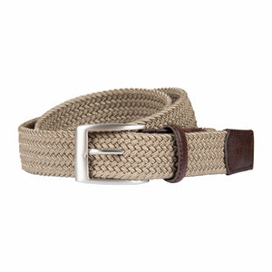 Brax Woven Belt in Beige - Ron Bennett Big Men's Clothing