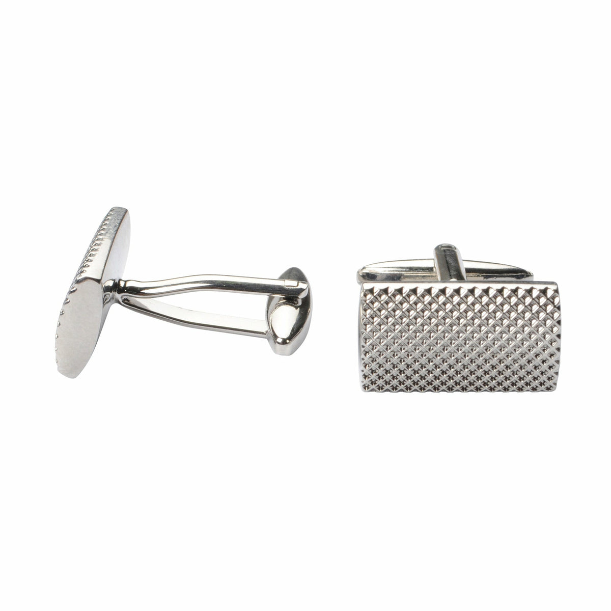 Bennett Signature Cufflinks in Silver - Ron Bennett Big Men's Clothing