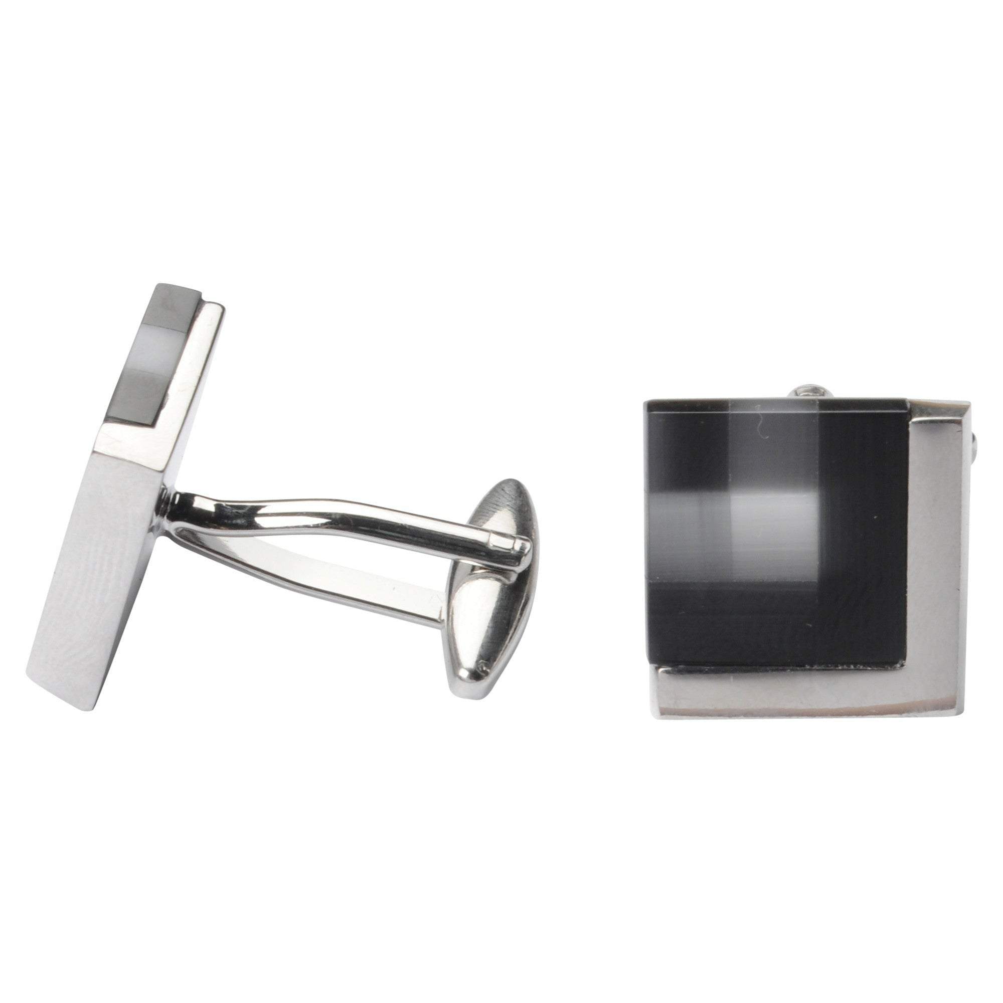Bennett Signature Cufflinks in Black - Ron Bennett Big Men's Clothing