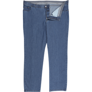 "Eurex Denim ""Ken"" Jeans in Dark Denim - Ron Bennett Big Men's Clothing - 1"