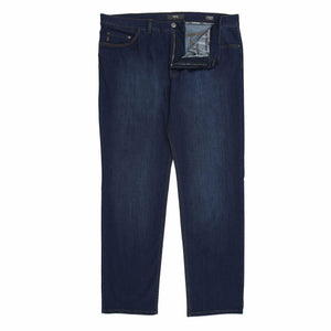 Brax Cooper Jeans in Dark Denim - Ron Bennett Big Men's Clothing - 1