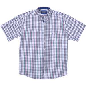Innsbrook Short Sleeve Shirt in Mauve - Ron Bennett Big Men's Clothing - 1