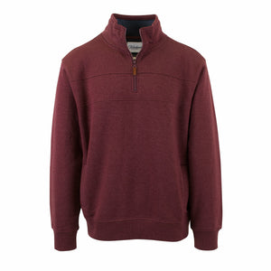 Gloweave Burgundy 1/4 Zip Panel Top