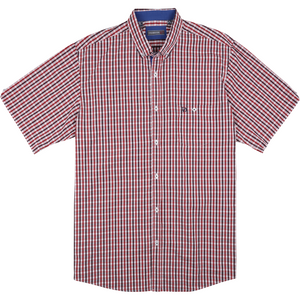 Innsbrook Short Sleeve Shirt in Red - Ron Bennett Big Men's Clothing - 1