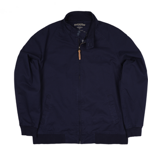 R.M. Williams Stockyard Bomber Jacket in Navy - Ron Bennett Big Men's Clothing - 1
