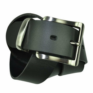 Ron Bennett Dress Belt in Black - Ron Bennett Big Men's Clothing