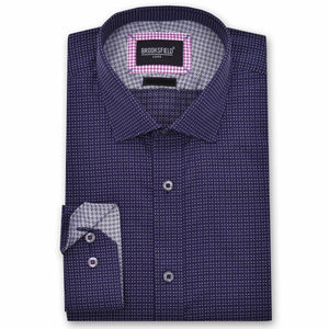 Brooksfield Luxe Text Squareweave Shirt