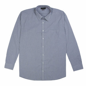 Gloweave Essential Dobbie Check Shirt in Navy