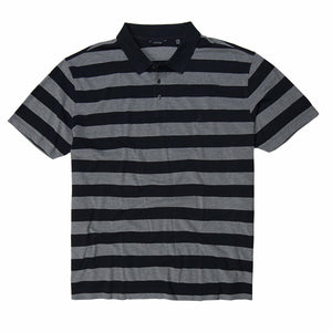 Nautica Striped Oxford Polo in Navy