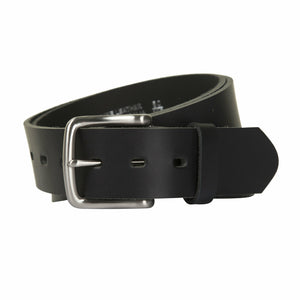 Ron Bennett Leather Belt in Black - Ron Bennett Big Men's Clothing