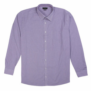 Gloweave Essential Dobbie Check Shirt in Purple