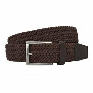 Alec Woven Belt 34mm in Brown