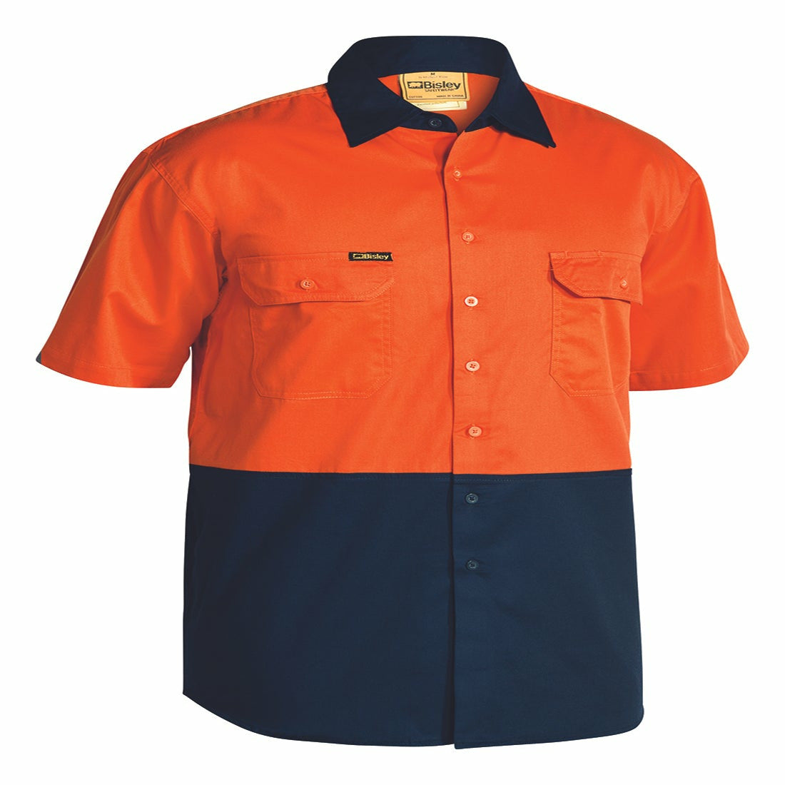 Bisley Hi-Viz Cool Lightweight Drill S/Sleeve Shirt