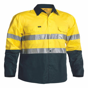 Bisley 3M Taped Hi Vis Cool Lightweight Mens Shirt