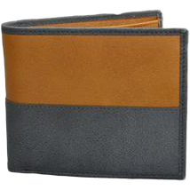 Mr Selby Colt Grey Tan Genuine Leather Wallet in Gift Box