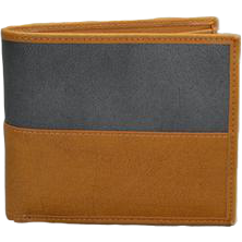 Mr Selby Colt Tan and Grey Genuine Leather Wallet in Gift Box