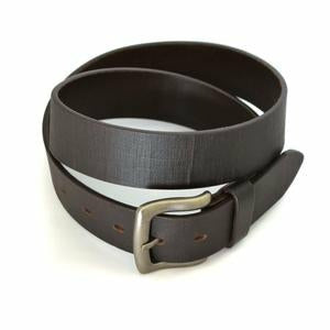 Jasper Mens Brown Leather Dress Belt 37mm Width