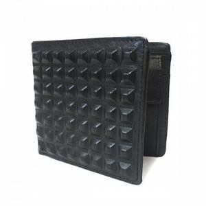 Lachlan Black Genuine Leather Spike Wallet in Gift Box