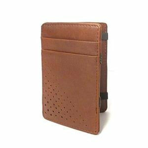 Lincoln Tan Light Flip Faux Leather Magic Wallet