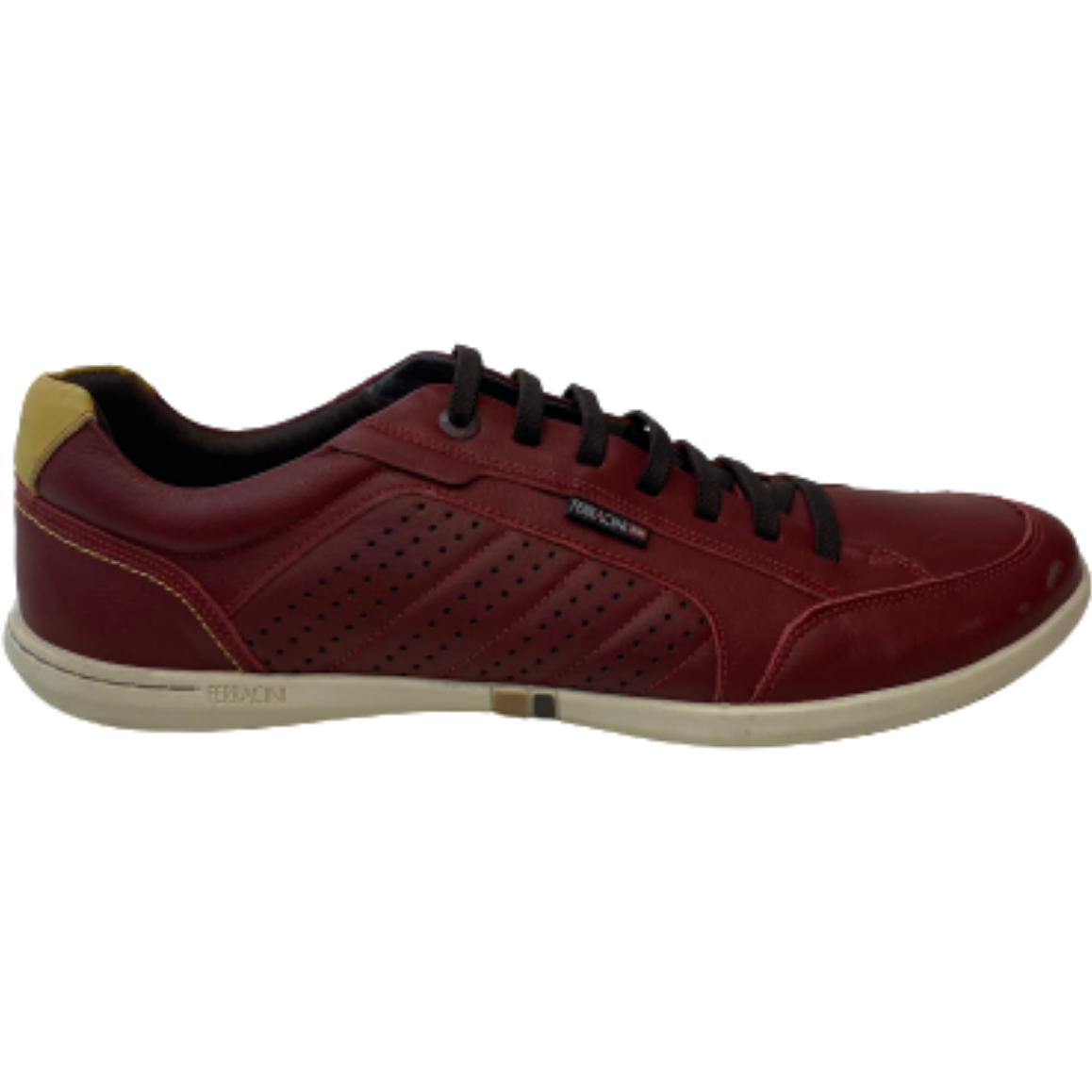 Ferracini Square Casual Shoe in Bordo