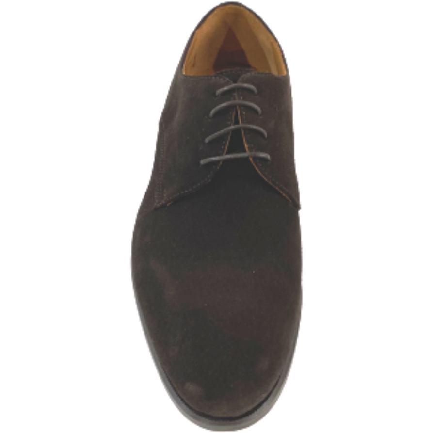Hand Made Suede lace up Zurigo Round Toe Shoe