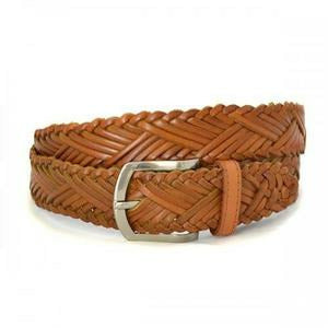 Nelson Tan Genuine Leather Belt 35mm wide