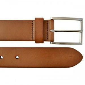 Stavros Camel Leather 32mm Dress Belt