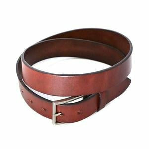 Stavros Chocolate Leather Dress 32mm Belt
