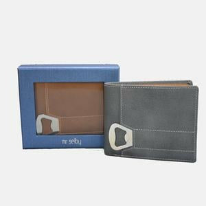 Tiger Tan Genuine Leather Wallet with Bottle Opener in Gift Box