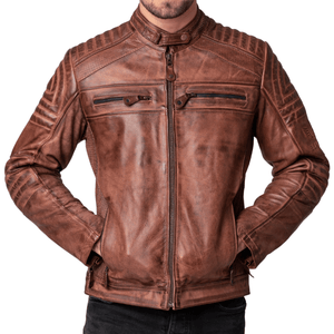 Big Mens Wakefield Motor Cyclists Leather Jacket