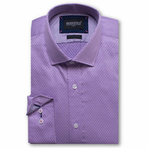 Brooksfield Luxe Dot Dobby Shirt Lilac