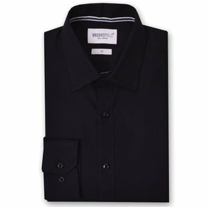 Brooksfield BFC991 Staple Dress Shirt in Black