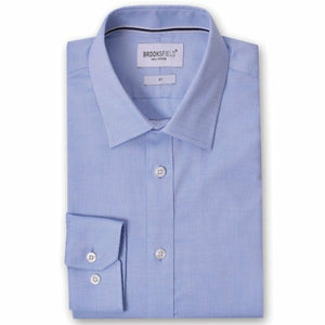 Brooksfield BFC991 Staple Dress Shirt in Blue