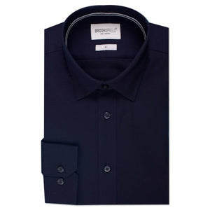 Brooksfield BFC991 Staple Dress Shirt in Navy