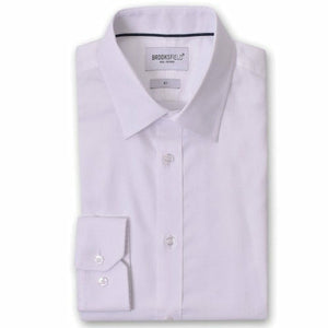 Brooksfield Staple Dress Shirt in White