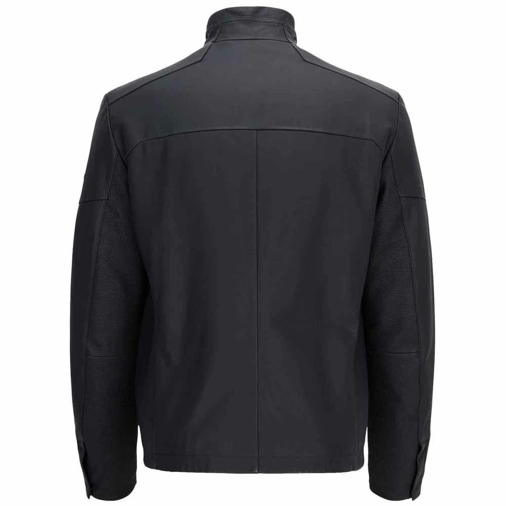 Hugo Boss Lightweight Black Leather Bomber Jacket