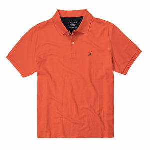 Nautica Solid Deck Polo in Tigerlily
