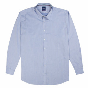 Gloweave Essential Textured Stripe Shirt in Blue