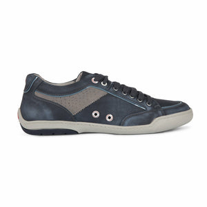 Ferracini Casual Shoe in Navy - Ron Bennett Big Men's Clothing - 1