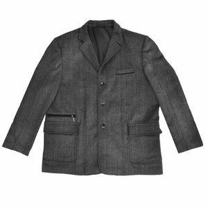 Bennett Heritage Utility Coat in Charcoal Herringbone