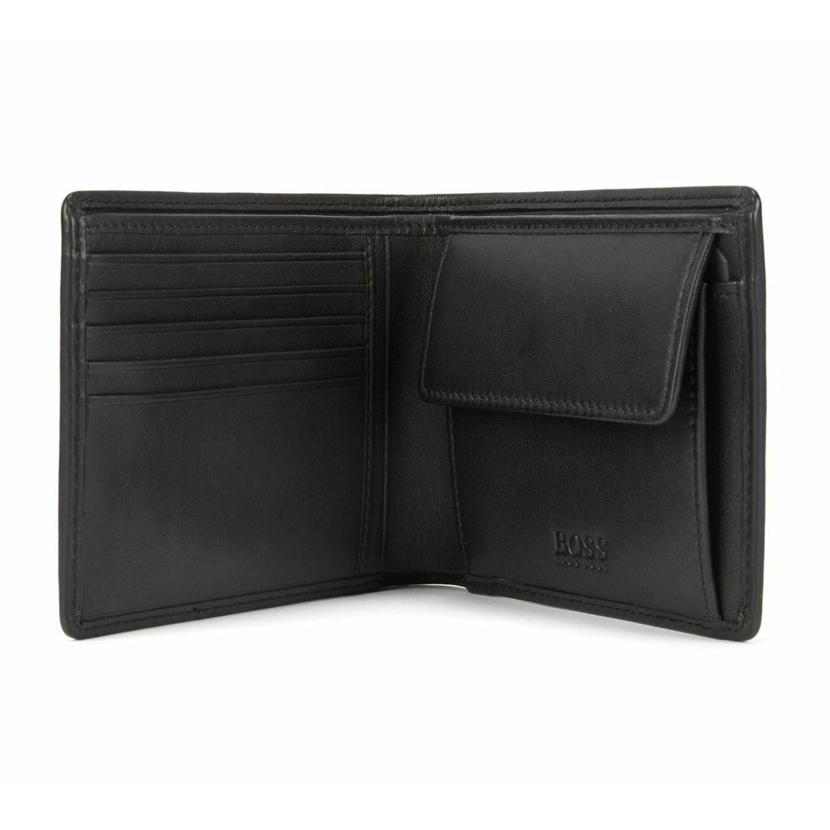 Hugo Boss Billfold Smooth Leather Wallet With Coin Pocket