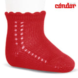 Short Lace Socks Red | Condor