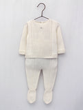 Foque Ivory Knitted 2 Piece Babysuit