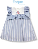 Nautical Dress & Bonnet Set | Foque