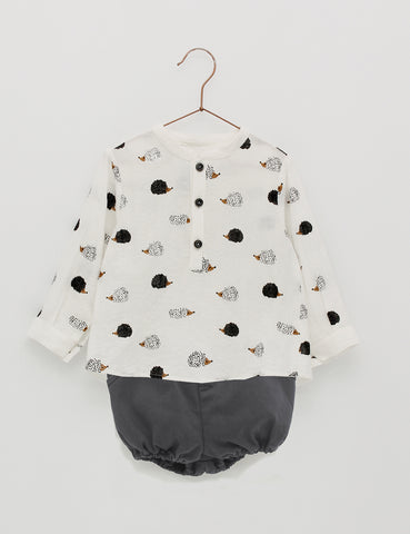 Hedgehog Print Boys Set | Foque