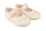 Cream Button Bar Shoes - Classical Child  - 2