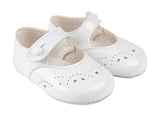 White Button Bar Shoes - Classical Child  - 2